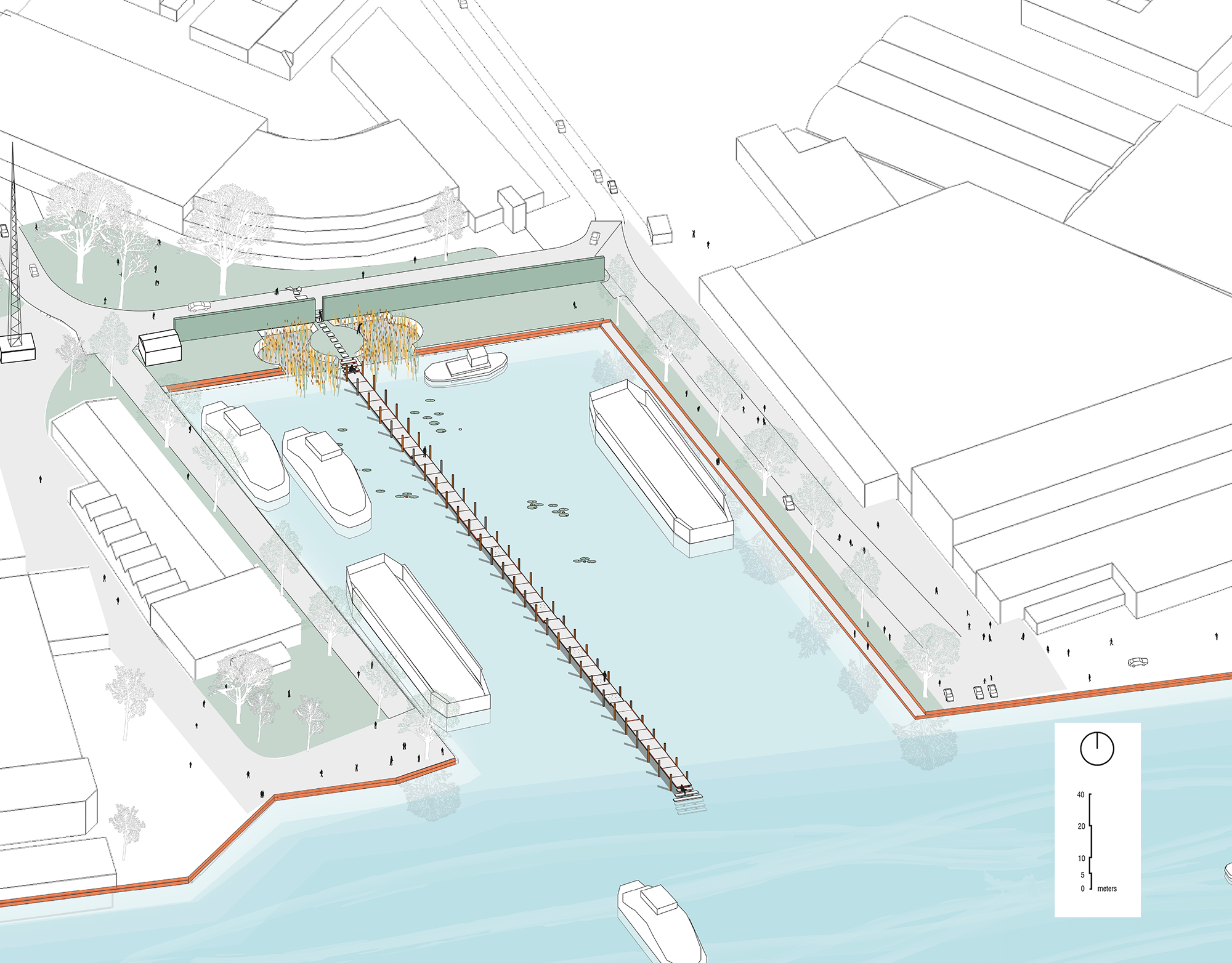 Figure 5: Resulting design proposal of a pier that evokes an individual sublime experience.