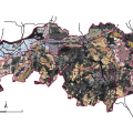 Overlay map (suitability map & landscape type)