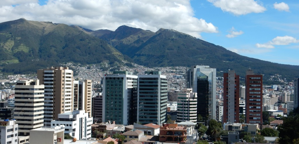Figure 8: In Quito, the mountains are the ultimate form of architecture.