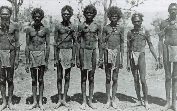 Figure 2. Aboriginals exploited by British settlers, http://atlantablackstar.com/2015/06/09/8-facts-may-not-know-extermination-australias-aborigines/