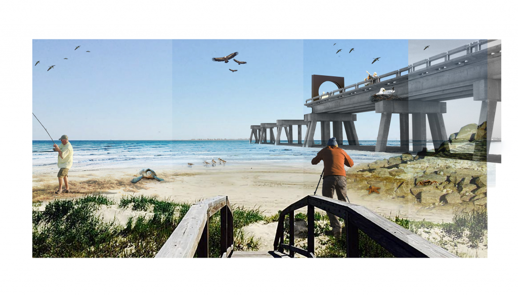 [Fig. 9] Impression of the natural recreational transformation on the sensitive barrier island beaches