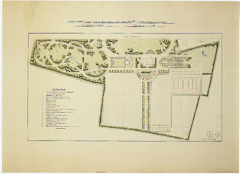 Figure 2. The design of Arboretum De Dreijen by L.A. Springer. Source: Wageningen University and Research Library, Special Collections.