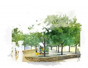 Afbeelding 7: visualisation of design for open public space in Muthemba