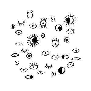 'Eyeballs' expressing the weirdness and multiplicity of perception.
